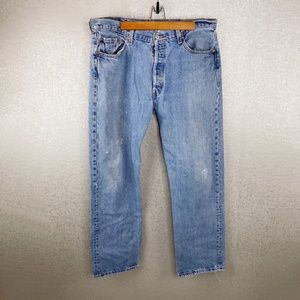 Vintage Levi 501 Distressed Denim Jeans Size 38/34